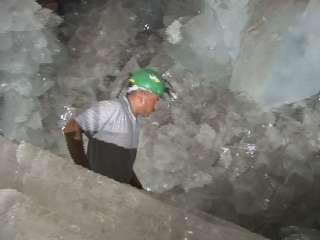 [Inside the Naica caves]