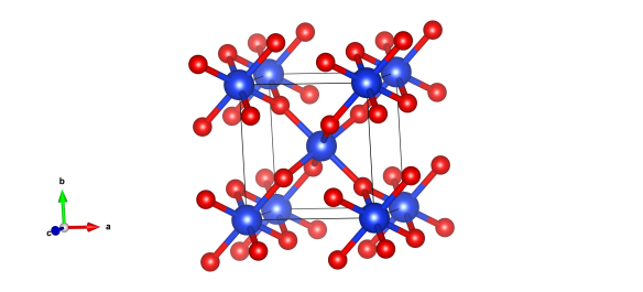The crystal structure of stishovite, image generated by the VESTA (Visualisation for Electronic and STructual analysis) software http://jp-minerals.org/vesta/en/.