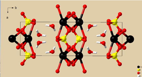 This schematic representation was generated using the Crystal and Molecular Structure Visualization software Diamond