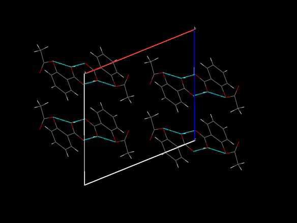 Made up of carbon (grey), oxygen (red) and hydrogren (white), Aspirin has given many scientists headaches - Image generated by the Mercury crystal structure visualisation software http://www.ccdc.cam.ac.uk/Solutions/CSDSystem/Pages/Mercury.aspx