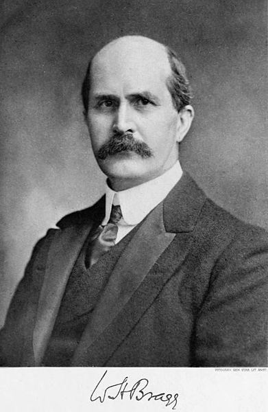 William Henry Bragg's portrait on winning the Nobel Prize, image from the Noble Foundation