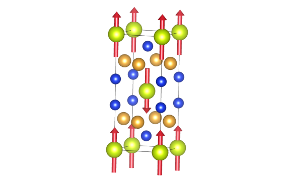 Cerium gold silicide is a 1-2-2 material. The chemical structure was the subject of a previous blog post. The structure is tetragonal. In this image the cerium is shown as light green. The gold is, well, gold. The silicon is shown in blue.