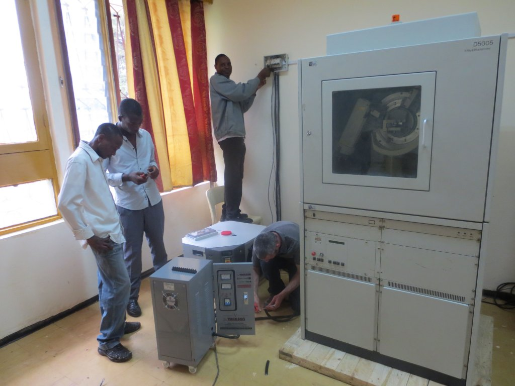 [Installing a diffractometer in Cameroon]