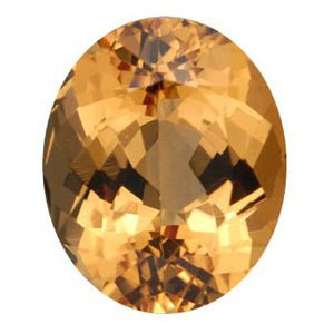 Figure 2. A gem quality Orange Topaz. Image from http://www.minerals.net/