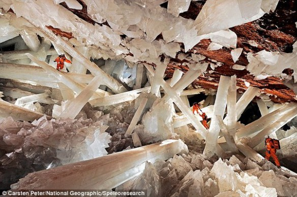 The great crystal cavern of Naica mines.