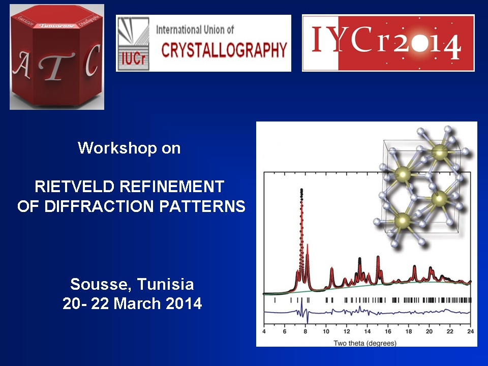 iycr2014 - Rietveld Refinement of diffraction patterns