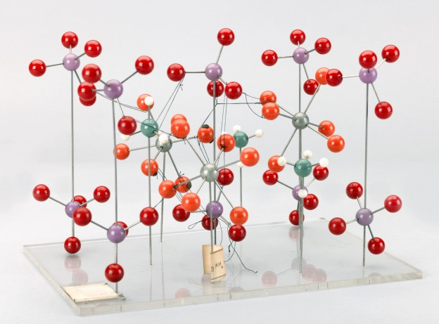 [crystal structure model by Kathleen Lonsdale, 1966]