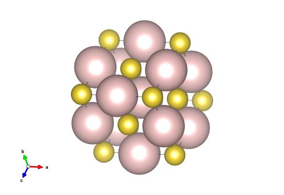 And this shows the relative scattering of the heavy hydrogen (pink) and sodium atoms (yellow) to neutron diffraction.