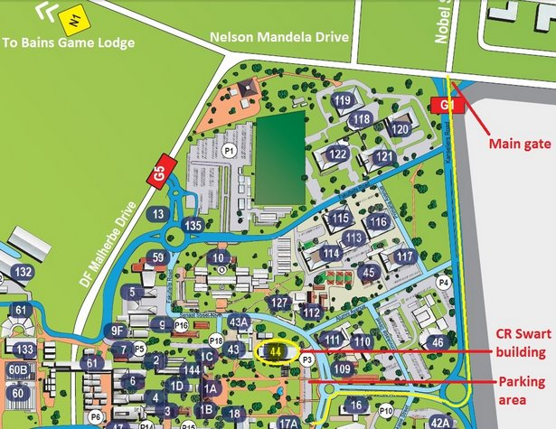 Heidelberg University Campus Map.Iycr2014 Bloemfontein