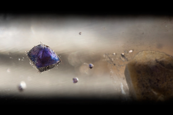 Image 3: Purple and blue fluorite in quartz. Image by Danny Sanchez