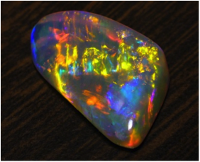 Figure 1. A fire opal from http://www.minerals.dmitre.sa.gov.au/