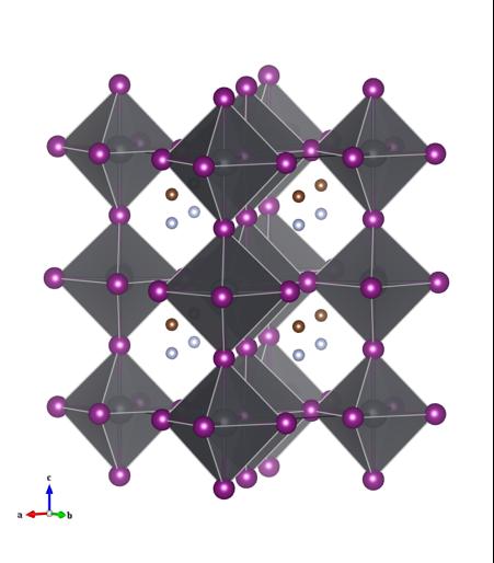 Figure 1: Crystal structure of methylammonium lead iodide.